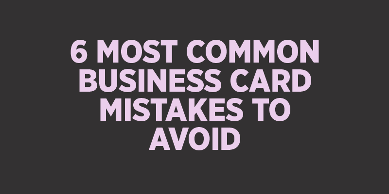 how to fix mistake on business card